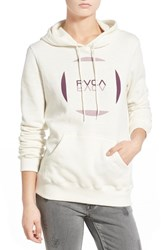Women's Rvca 'Reflect' Logo Hoodie White