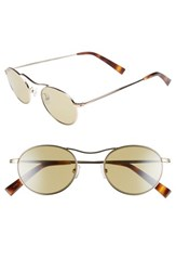 Kendall Kylie Tasha 49Mm Oval Sunglasses Light Gold Metal Camo Silver Light Gold Metal Camo Silver