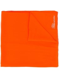 Blumarine Silk Sheer Scarf Orange