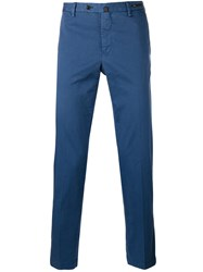 Pt01 Cropped Tapered Trousers Blue
