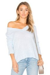 White Warren Swing V Neck Sweater Blue