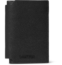 Lanvin Grained Leather Bifold Cardholder Black