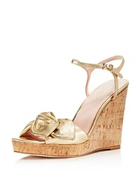 ec5e1234ac7a Kate Spade New York Women s Janae Metallic Leather Platform Wedge Sandals  Gold