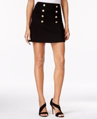 Kensie Sailor Mini Skirt Black
