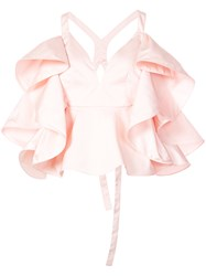Rosie Assoulin Ruffled Blouse Pink And Purple