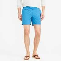 J.Crew 6.5' Tab Swim Short With Blue Side Stripe