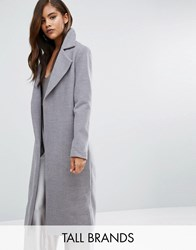 Missguided Tall Longline Duster Coat Grey