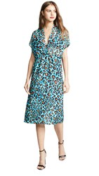Loyd Ford Electric Leopard Dress Blue Leopard