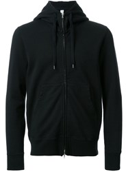 Attachment Zipped Hoodie Black