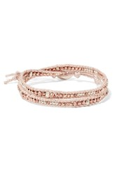 Chan Luu Gold And Silver Tone Beaded Wrap Bracelet Rose Gold