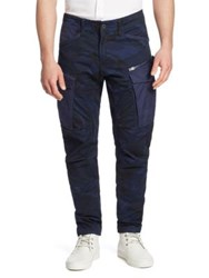 G Star Rovic Camo Cargo Pants Imperial Blue