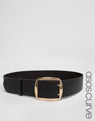 Asos Curve Wide Buckle Waist Belt Black
