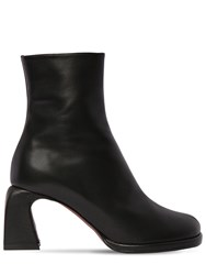 Manu Atelier 75Mm Chae Leather Ankle Boots Black