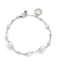 Judith Jack Timeless Touches Faux Pearl Marcasite And Sterling Silver Toggle Bracelet