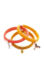 Marc Jacobs Martini Safety Pin Cluster Hair Ties Yellow Multi