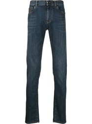 Canali Faded Jeans Blue