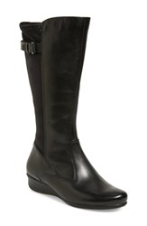 Women's Ecco 'Abelone Tall' Stretch Back Wedge Boot 1 1 2' Heel