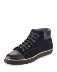 English Laundry Kensal Suede Platform Sneaker Navy
