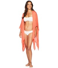 Collection Xiix Back Lace Cover Up Coral Sand Clothing Red