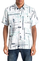 Quiksilver Men's Waterman Collection Paddle Out Regular Fit Print Camp Shirt