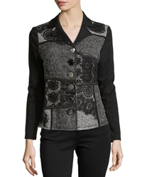 Berek Twilight Patchwork Knit Jacket Black