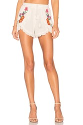 Lovers Friends Serene Shorts Ivory