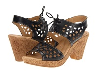 Spring Step Lamay Black Leather Women's Wedge Shoes