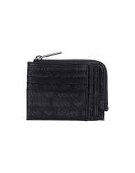 Armani Jeans Small Leather Goods Document Holders Men Black