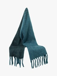 French Connection Ceri Wool Scarf Sycamore Tapestry Blue