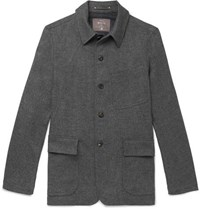 Private White V.C. Herringbone Wool Jacket Gray