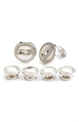 Men's David Donahue Sterling Silver Cuff Link And Stud Set