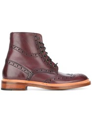 Oliver Sweeney 'Wren' Brogue Boots Red