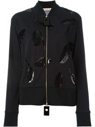 Marni Sequin Embellished Jacket Black