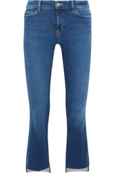 Mih Jeans M.I.H Marrakesh Cropped Mid Rise Flared Blue