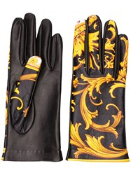 Versace Barocco Print Gloves 60