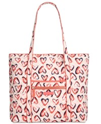 Vera Bradley Iconic Large Tote Hearts Pink