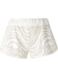 Drome Perforated Leather Shorts White