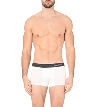 Zegna Striped Waistband Stretch Cotton Trunks White