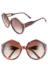 Vow London Women's Gigi 56Mm Round Sunglasses Red Black Red Black