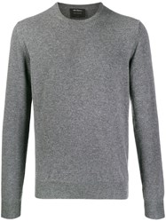 Dell'oglio Crew Neck Pullover Grey