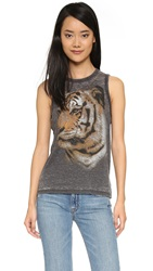 Chaser Tiger Face Muscle Tank Black