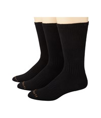 Carhartt Work Wear Flat Knit Crew Socks 3 Pack Black Men's Crew Cut Socks Shoes