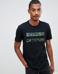 Dr. Denim Dr Patrick T Shirt In Black With Logo Black Spectre Logo