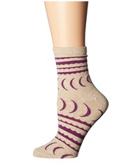 Richer Poorer Crescent Ankle Oatmeal Women's Crew Cut Socks Shoes Brown