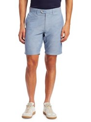 Saks Fifth Avenue Collection Cotton Chambray Shorts Light Blue