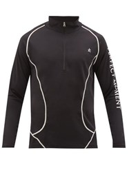 Perfect Moment Thermal Technical Stretch Jersey Sweater Black