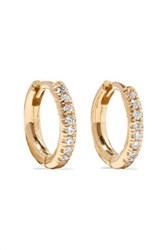 Ileana Makri 18 Karat Gold Diamond Hoop Earrings One Size