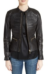 Burberry Women's Hepford Lambskin Leather Jacket