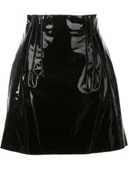 Nina Ricci Varnished Effect A Line Skirt Black