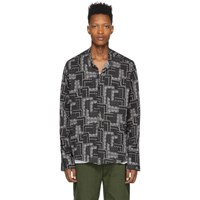 Greg Lauren Black Paisley Shirt